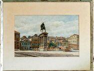 Meister-Aquarell O. GÜNTHER-NAUMBURG (1856), Reiterstatue in Venedig um 1895!!! - Berlin