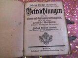 Antikes Buch J.G. Reinbecks Betrachtungen d. Sonn u. Festtägl. Evangelien 1754