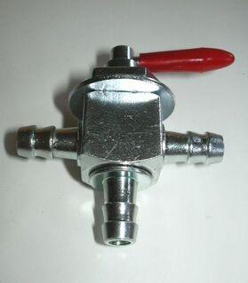 3-wege Benzinhahn für 8 mm Schlauchdurchmesser Metall Stahl Fuel - Eschershausen