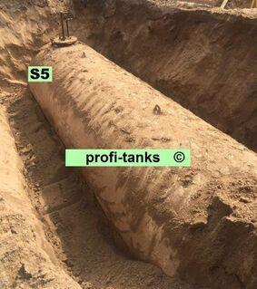 S5 gebrauchter 50.000 Liter doppelwandiger Stahltank Erdtank Wassertank Bitumenbeschichtung Löschwassertank Lagertank Löschwasserbehälter Wasserzisterne - Nordhorn