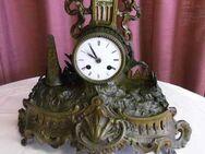 Antike Kaminuhr um 1900 aus Messingblech / Uhr als Restaurationsobjekt - Zeuthen