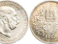 Österreich 1 Krone 1915, Kaiser Franz Josef I.,835 Silber
