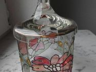 Glas Geleedose handbemalt Dekorränder aus Hochemail neu 5,- - Flensburg