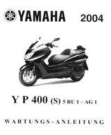 Wartungsanleitung YAMAHA YP 400 Majestic Motorroller
