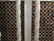 Römische Steinsäulen, Beton grau, armiert, gedrehte Ausführung - Erlensee