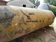 S13 gebrauchter 10.000 L Erdtank Stahltank unterirdischer Löschwassertank Wasserzisterne Löschwasserbehälter Lagertank mit Bitumenanstrich oder Isolierung - Nordhorn