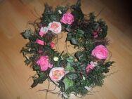 Wunderschöner Türkranz  rosa Blüten - Neunkirchen Zentrum