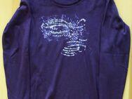 Langarm Shirt in dunklem Lila / Violett, Gr. M - Hürth