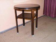 Antiker runder Tisch / Beistelltisch in massiver Eiche - Zeuthen