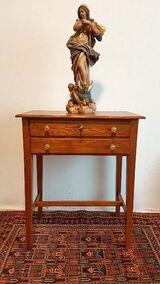 Beistelltisch Kassentisch Tisch f Skulptur Ladentisch Tischchen Eiche Holz