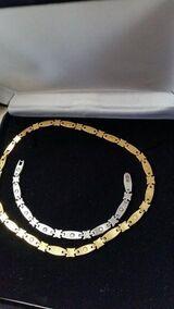 NEU Edelstahl Set Schmuckset Armband und Collier als Set mit Magneten
