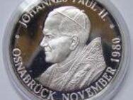 Papst Johannes Paul II. 1980 in Osnabrück  Feinsilber - Osnabrück