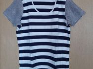 T-Shirt blau/weiß gestreift, Gr: 48 - Immenhausen