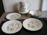 Royal Limoges Le Chambrelain Paris Blumen rosa grün  Kaffeekanne Teller zus. 39,- - Flensburg