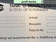 P108 gebrauchter 40.000 L Polyestertank GFK-Tank doppelwandig Flachboden Speidel-Tank inkl. neuwertiges Leckage-Gerät Lagertank oberirdisch guter Zustand - Nordhorn