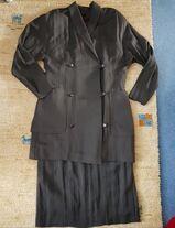 Damen Zweiteiler Kostüm Gr. 40 Dunkelbraun