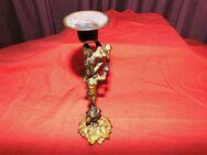 Messing Tisch - Kerzenhalter 3 Akrobaten / Antiker Kerzenständer / Sammlerstück - Zeuthen