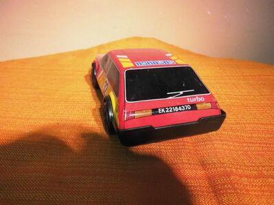 DDR Spielzeug - Auto, Friktionsmotor, Blech Plastik, Rallye Team / Sammler - Zeuthen