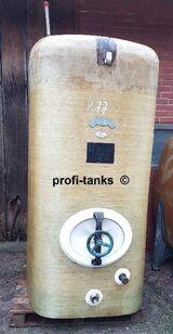P77 gebrauchter 3.000 Liter Polyestertank GFK-Tank Staffelstein-Tank Wassertank Regenauffangtank Flüssigfuttertank Molketank Lagerbehälter für div. Medien