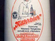 - alter kleiner Werbe Bierkrug HACKERBRÄU NÄHRBIER MÜNCHEN -1/4L - Nürnberg