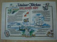 Poster Schulauer Fährhaus Willkomm Höft im Jahre 1989, Schiffsbegrüßungsanlage, Wedel/Hamburg - Flensburg Innenstadt