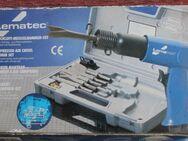 Unbenutztes Lematec Druckluft-Meisselhammer-Set für alle Schlag- und Trennarbeiten komplett mit 5teiligem Meißelsatz - Bad Belzig