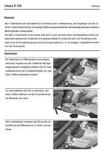 Werkstatthandbuch Vespa S 125 vier Takter - Bochum Hordel