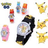 Mädchen Wasserdichte Uhr Pokemon Pikachu Cartoon 3D Armbanduhr,rosa