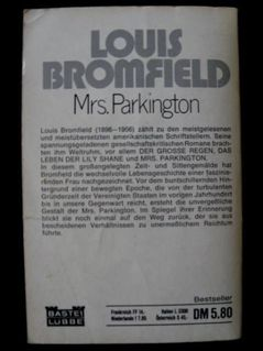 Louis Bromfield - Mrs. Parkington - Niddatal Zentrum