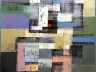 Großes neues BALI-Gemälde (110x130cm), Vielfarbige Komposition mit rotem Viereck!!!! - Berlin