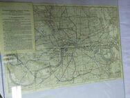 London Karte - Plan Verkehrsmittel 1920 / Druck: Grimme und Trömel / Underground - Zeuthen