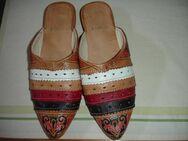 Slipper, Schuhe, mitgebracht aus Marokko, Leder - Hamburg