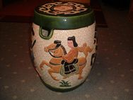 Asiatischer Keramikhocker-Hocker-Beistelltisch-Vintage-Antik-Safavieh - Cottbus