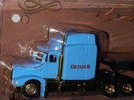 Hellblauer Greizer Peterbilt goldener Güterwagen Modell US Truck LKW H0 - Nürnberg
