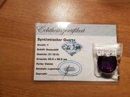 37,10 ct- IF , synth. Quarz aus meiner privaten Sammlungsauflösung ,synthetische Quarze , dt. Zertifikate - Neubrandenburg