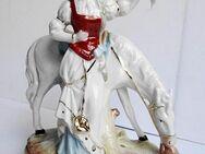 Porzellanfigur, Figur Mädchen mit Pferd, Bisquit-Porzellan - Königsbach-Stein