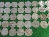 37x 10 DM Silbermünzen von 1970-1997  in Stempelglanz - Mannheim