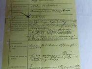 Zeitdokument, Nachweis zu den Dienstakten ca.1910 / Gefängnis Oberinspektor - Zeuthen