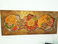 Florales Wandlichtobjekt handgefertigt - Gernsbach