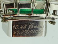 750er Weißgoldanhänger mit kolumb. Smaragd und Baguette Diamanten - Leverkusen