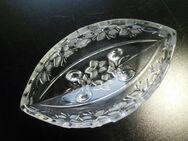 Walther Glas Schale oval 25 cm Fuß-Jardiniere Blumen satiniert 5,- - Flensburg
