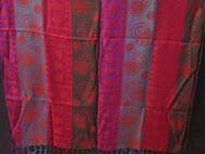 Schultertuch (lang 180 x 69 cm breit cm) Rot, Grün, Lila bunt - Weichs