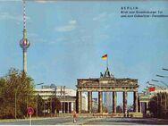 Postkarte Ansichtskarte / Berlin Blick zum Brandenburger Tor und zum Ostberliner Fernsehturm - Berlin Reinickendorf