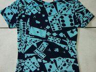 hellblau/marineblau T-shirt Domino und Spielkarten - Dortmund Aplerbeck
