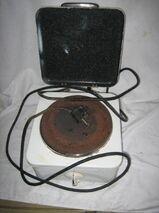 Einzel-Elektrokochplatte mit Deckel