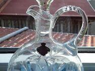 Bleikristall-Keraffe mit Lilienmotiv, 50er Jahre, handgearbeitet - Eckernförde