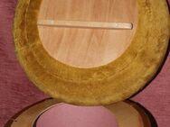 brauner Sitzpolsterhocker mit Aufbewahrungsraum darunter - Bad Belzig Zentrum