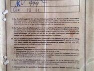 KFZ Brief - Peugeot 404 -, EZ 10.07.1962, für Sammler - Korschenbroich Zentrum