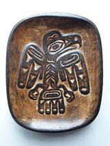 Haida Egle - indianischer Keramikwandteller bzw. -schale
