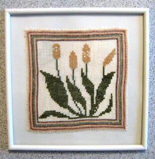 2 Stickbilder, Handarbeit, Stickerei, Blume, neu - Celle